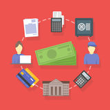 Vector collection of flat and colorful business and finance concepts accounting icons.  Royalty Free Stock Image