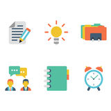 Vector collection of flat and colorful business Stock Images