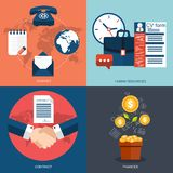 Vector collection of flat and colorful business, marketing and finance concepts. Design elements for web and mobile applications Royalty Free Stock Image