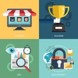 Vector collection of flat and colorful business, marketing and finance concepts. Design elements for web and mobile development. Vector collection of flat and Royalty Free Stock Images