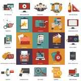 Vector collection of flat and colorful business, marketing, finance, education and technology concepts. Design elements for web and mobile applications Stock Photography