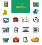 Vector collection of flat and colorful web icons. On SEO, business, shopping and technology theme. Design elements for mobile and web applications. Modern stock illustration