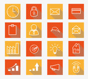 Vector collection of flat icons Royalty Free Stock Photography