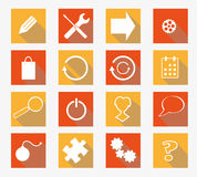 Vector collection of flat icons Royalty Free Stock Images