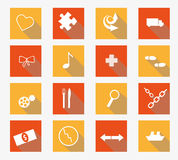 Vector collection of flat icons Stock Photo