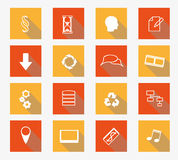 Vector collection of flat icons Stock Photography