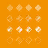 Vector collection of flat striped icons Royalty Free Stock Image