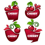 Vector collection of fresh juice stickers Royalty Free Stock Images