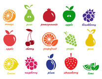 Vector collection: fruit icons Stock Photos