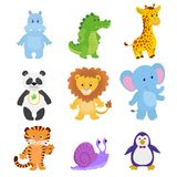 Vector collection funny animals. stock illustration