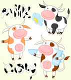 Vector collection of funny cows Royalty Free Stock Photography