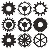 Vector collection of gear wheels Stock Images