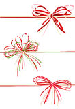 Vector collection gift bows Stock Images