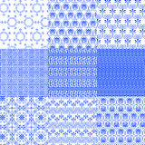 Vector collection of Greek traditional seamless patterns Royalty Free Stock Photo