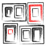 Vector collection grunge frames set,  elements, Royalty Free Stock Photography