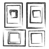 Vector collection grunge frames set,  elements, Stock Photo