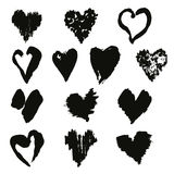 Vector collection of hand drawn stylish grunge hearts. Vector collection of elegant hand drawn stylish grunge hearts Vector Illustration