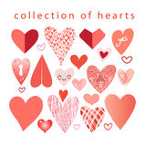 Vector collection of hearts Royalty Free Stock Photography