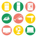 Vector collection of home appliance. Stock Photo