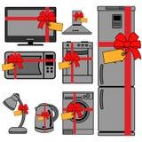 A vector collection of home appliance icons Stock Photos