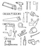 Vector collection of house repair icons. Stock Image