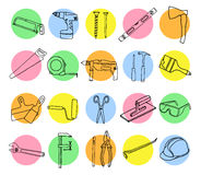 Vector collection of house repair icons. Royalty Free Stock Image