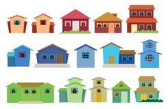 Vector collection of houses Stock Photos