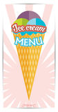 Vector Collection of Ice Cream with banner Royalty Free Stock Photo
