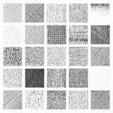 Vector Collection Ink Hand Drawn Hatch Texture Stock Photography