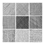 Vector collection ink hand drawn hatch texture Stock Image