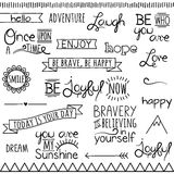Vector Collection Inspirational Drawn Words Royalty Free Stock Images