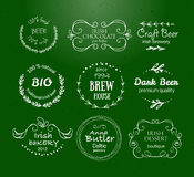 Vector collection of Irish hand drawn logo templates Royalty Free Stock Photography