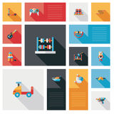 Vector collection of kid toy flat user interface Stock Images