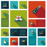 Vector collection of kid toy flat user interface Royalty Free Stock Image