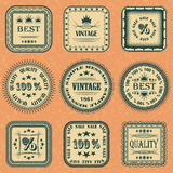 Vector collection of labels Royalty Free Stock Image