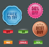 Vector collection of labels Stock Photography