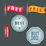 Vector collection of labels Royalty Free Stock Photos