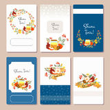 Vector collection of labels and elements for Rosh Hashanah (Jewi Royalty Free Stock Image