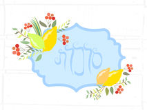 Vector collection of labels and elements for Sukkot Stock Images