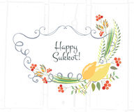 Vector collection of labels and elements for Sukkot Stock Photos
