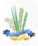 Vector collection of labels and elements for Sukkot Royalty Free Stock Photo