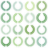 Vector collection: laurel wreaths. Vector collection of laurel wreaths Stock Photos