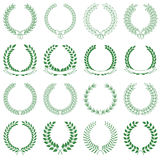 Vector collection: laurel wreaths. Vector collection of laurel wreaths royalty free illustration