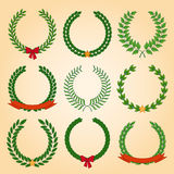 Vector collection: laurel wreaths Stock Image