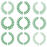 Vector collection: laurel wreaths Royalty Free Stock Image