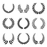 Vector Collection of Laurels, Floral Elements and. Banners illustration Royalty Free Stock Photos