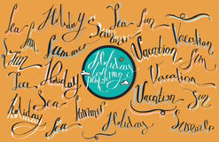 Vector collection of lettering Royalty Free Stock Image