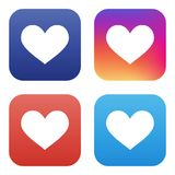 Vector collection of like icons for social networks Stock Photo