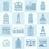 Vector collection of linear icons Stock Images