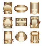 Vector collection of luxury golden labels. Golden luxury labels,design elements,eps vector illustration